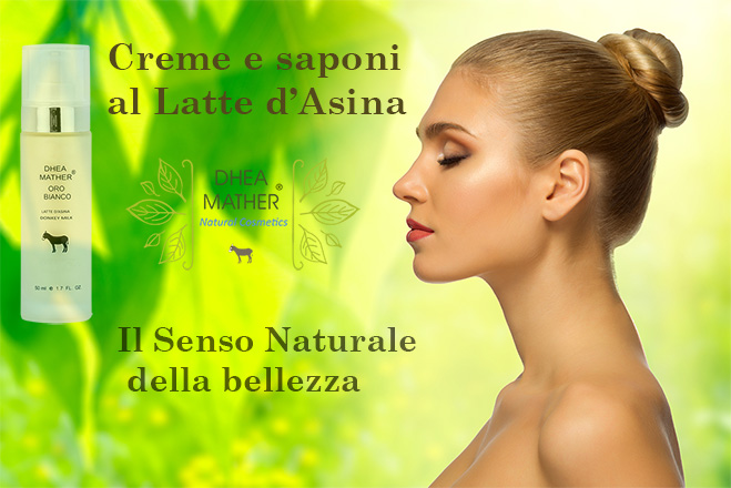 "Crema al 78% di latte d'asina ""Oro Bianco"" - Dhea Mather"